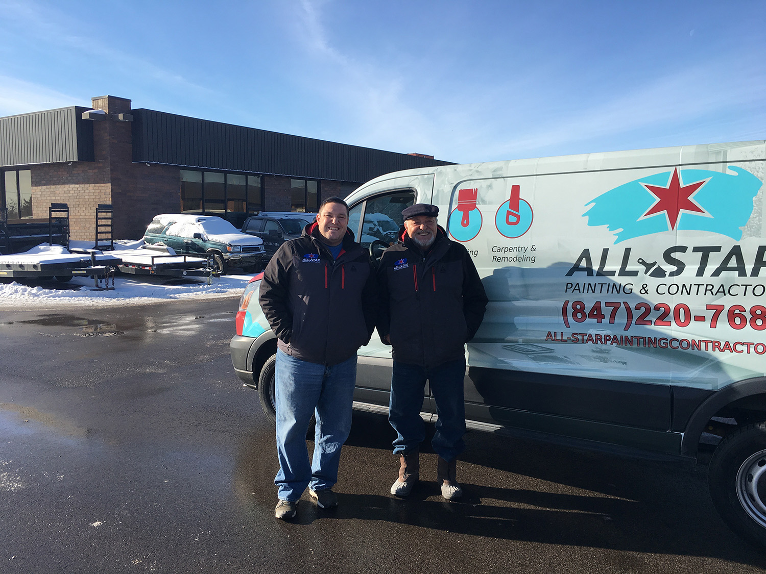 All-Star Painting Vehicle Wrap Design