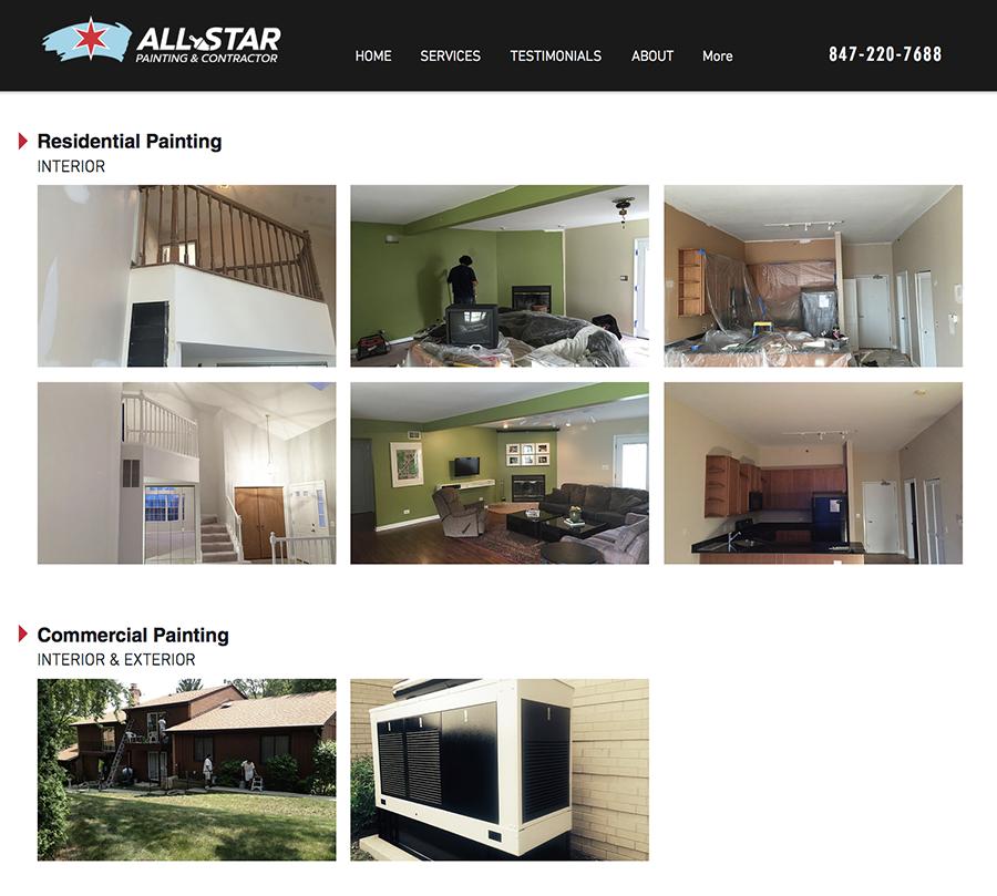 All-Star Painting Website Design
