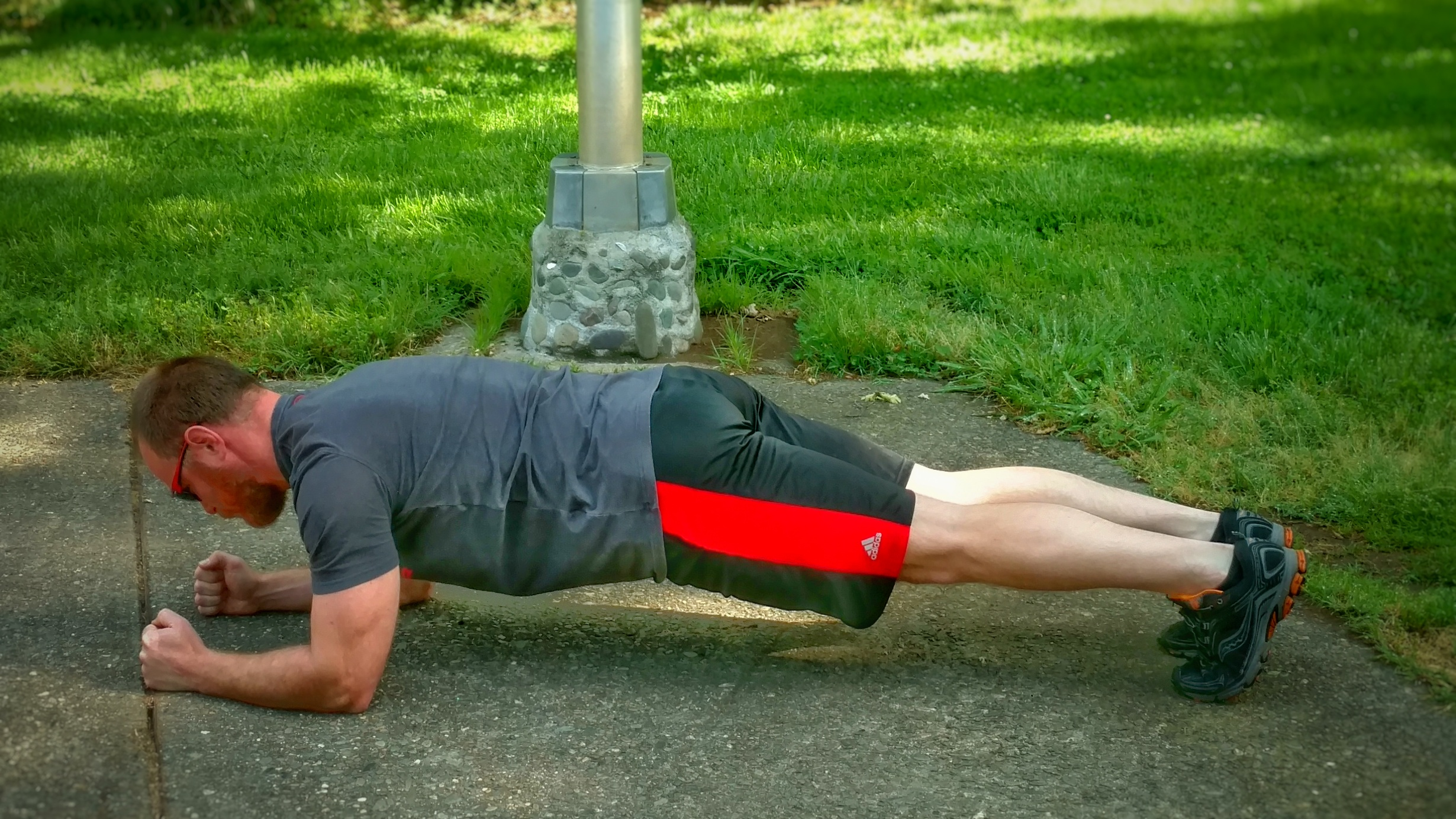 :90 seconds - Try to hold the plank position for :90 seconds.