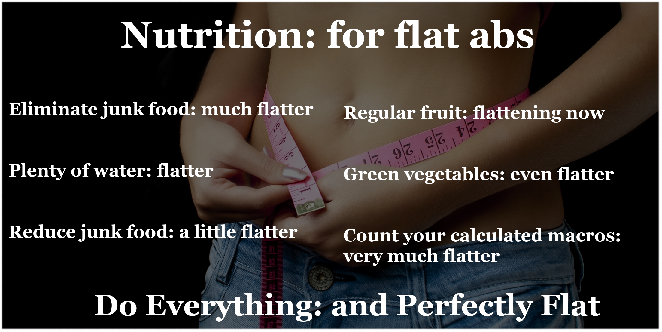 Nutrition - For Flat Abs