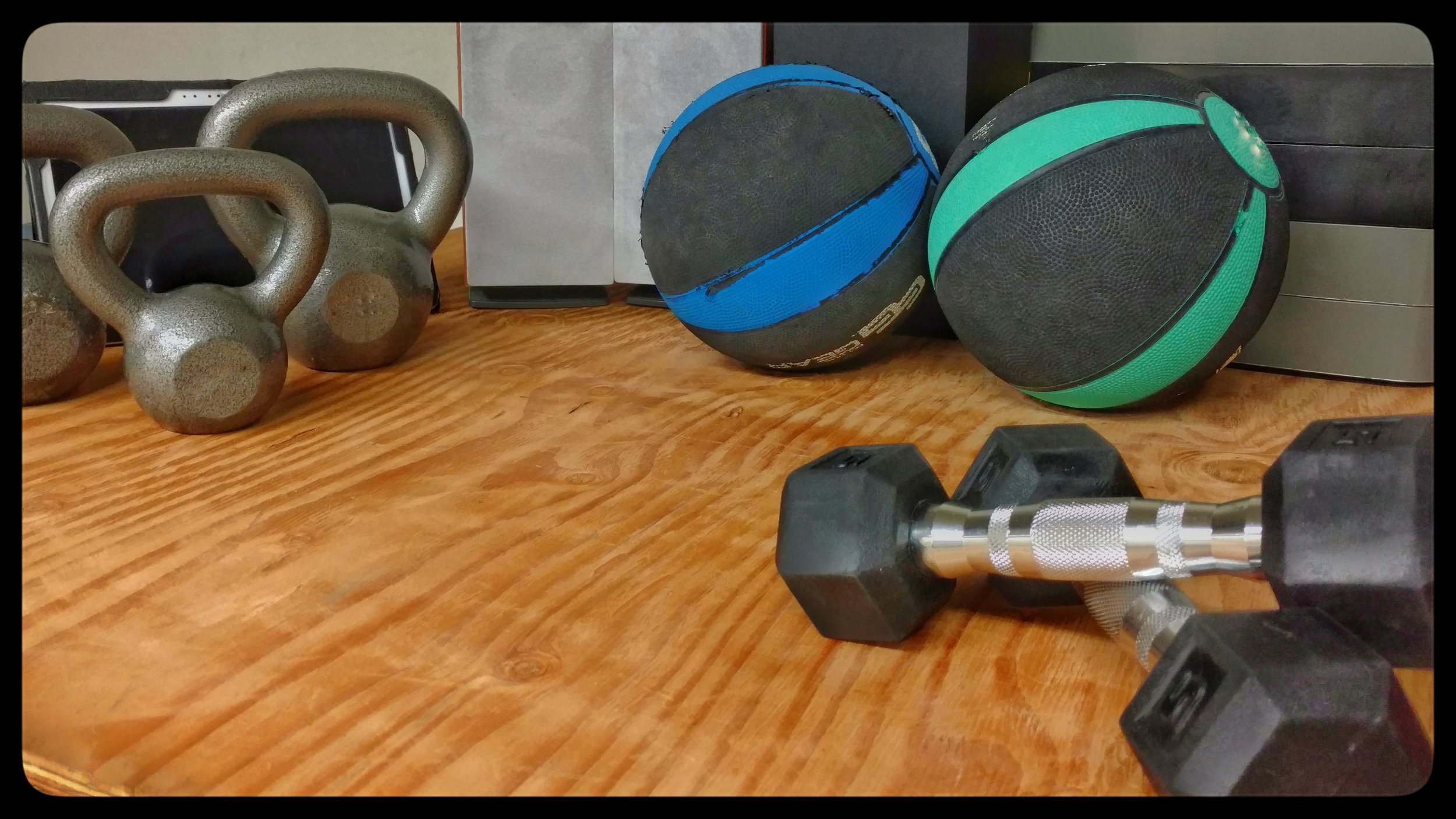 Dumbbells, Kettlebells and Medicine Balls -