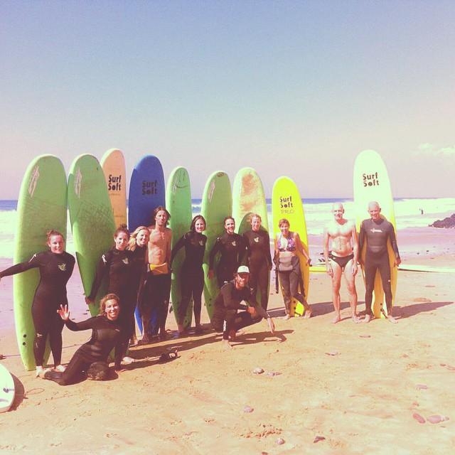 group photo yoga surf