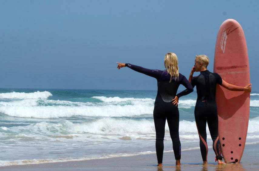 yoga surf holiday portugal