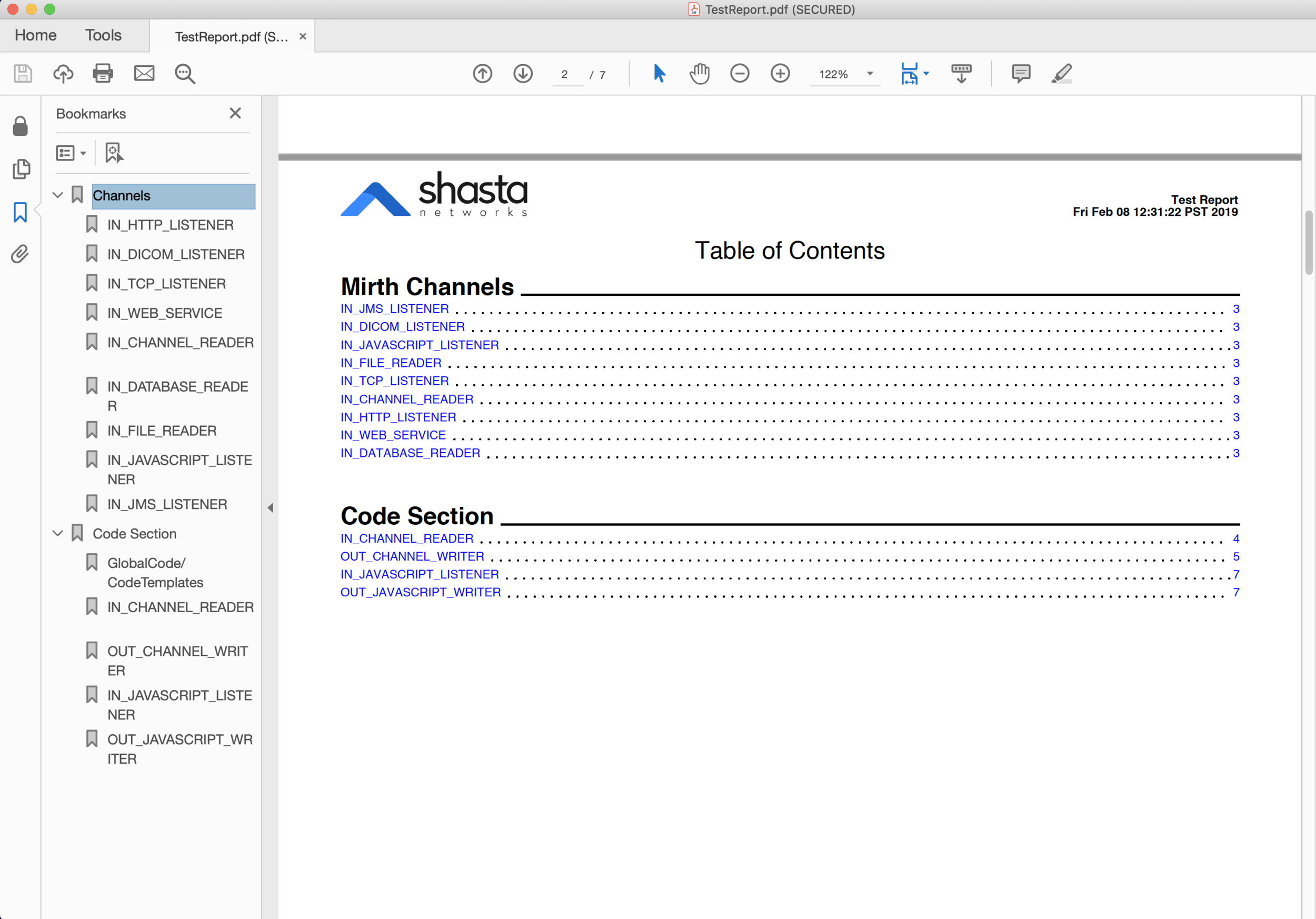 PDF generated by MirthVisualizer (Table of Contents and Bookmarks)