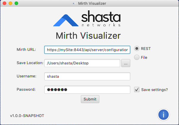 MirthVisualizer Launch - REST option