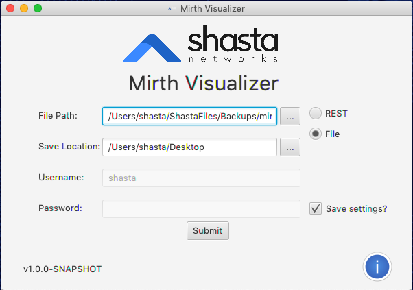 MirthVisualizer - File Option