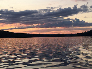 Sunset Reflections, Rock Lake, Algonquin Park, Ontario - Photo by Leilah