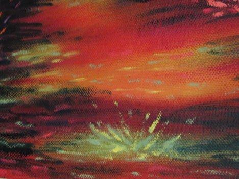 Light Flower (Detail: Heroine's Journey) Oil on canvas, 2015  ©Nancy Ward