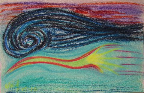 """Daily Drawing """"The Wave"""" July 15, 2016"""