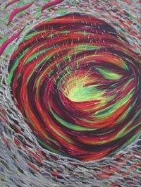 Vortex By Nancy Leilah Ward 2016, Oil on canvas