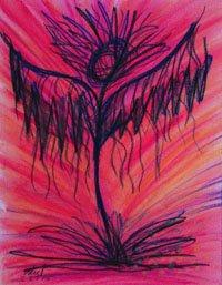 Ragged Goddess Pastel on paper, February 27, 2015
