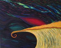 Golden Wave Oil on canvas By Leilah Ward