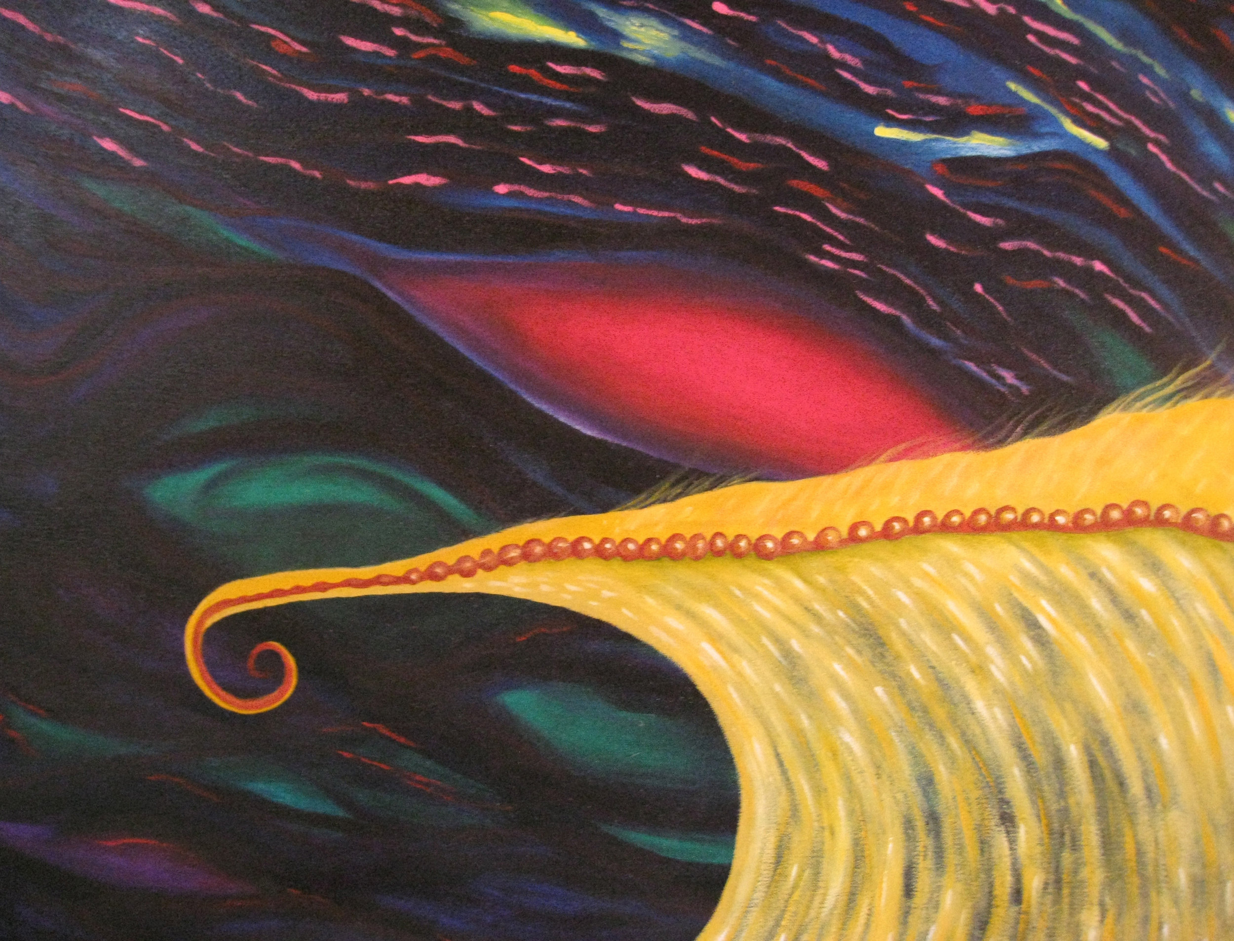The Golden Wave   oil on canvas, by Leilah