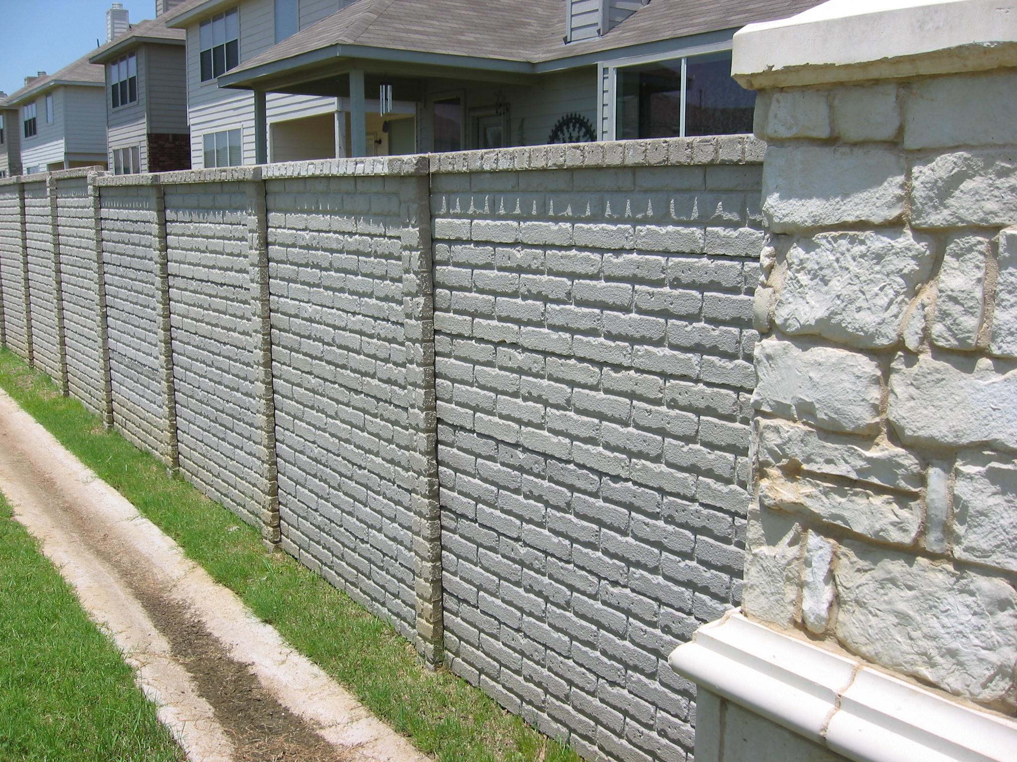OldBrick Precast Fence Fort Worth TX.JPG