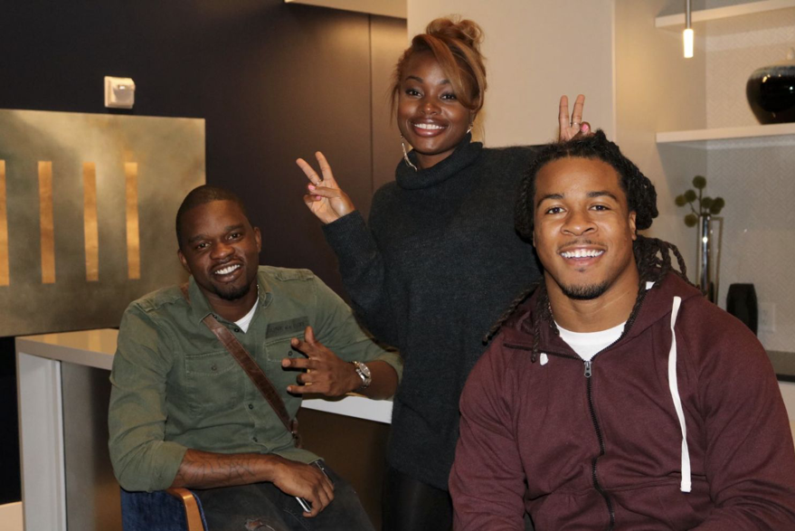 Photo: Keenen Johnson, Rashida Gayle, Devonta Freeman (client)