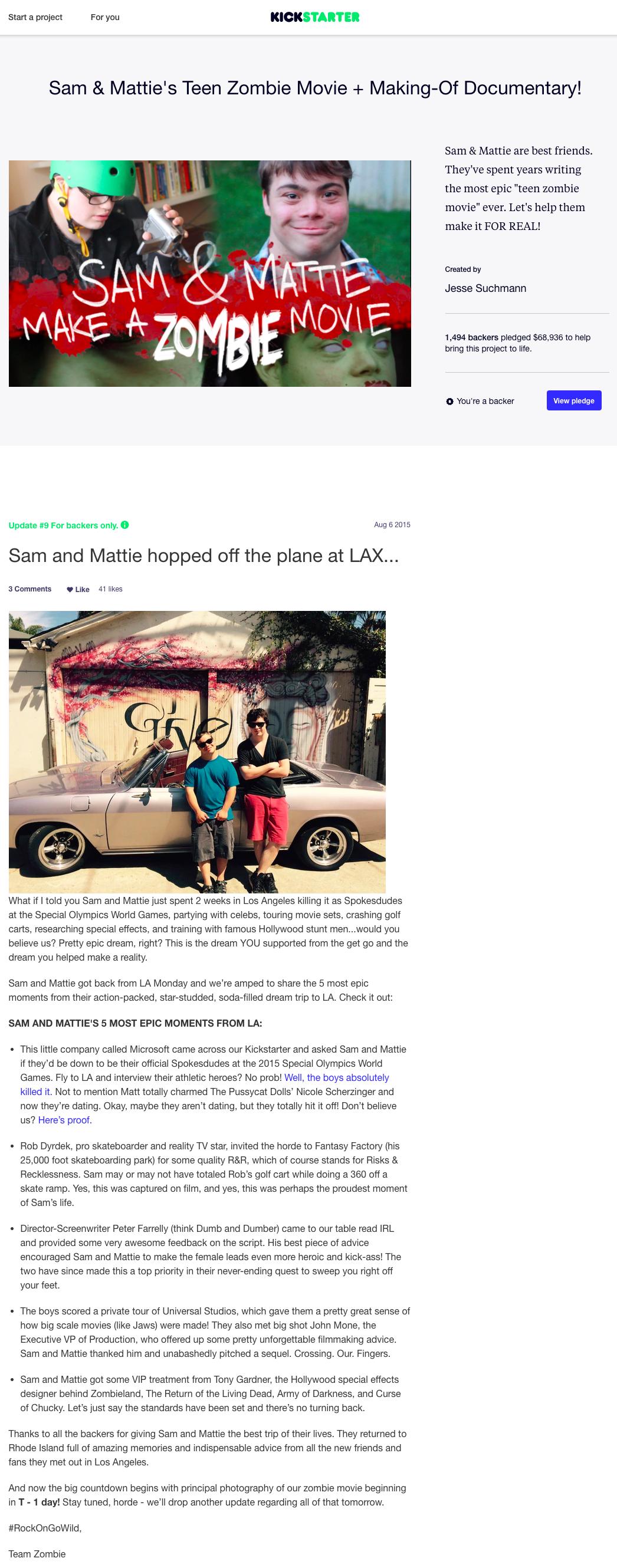Kickstarter Article_Sam and Mattie's Teen Zombie Movie.png