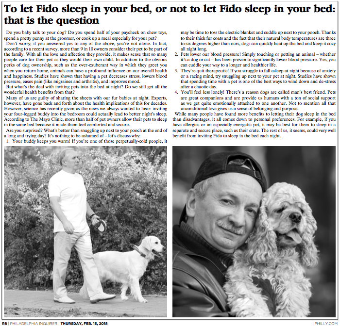 Philadelphia Inquirer_Benefits of pet sleeping in bed.png