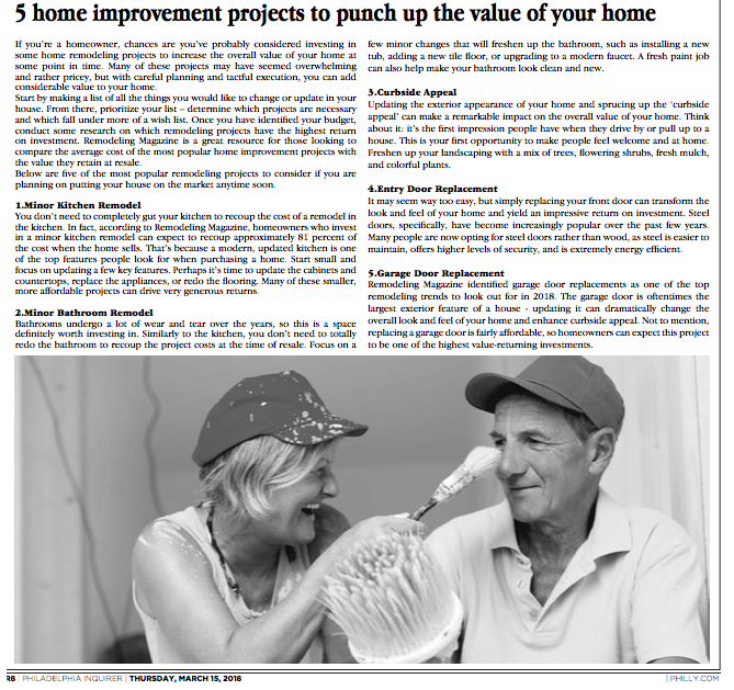 Philadelphia Inquirer_5 home improvement projects to punch up the value of your home.png
