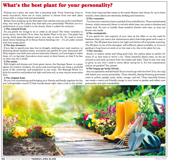 Philadelphia Inquirer_What's the best plant for your personality.png