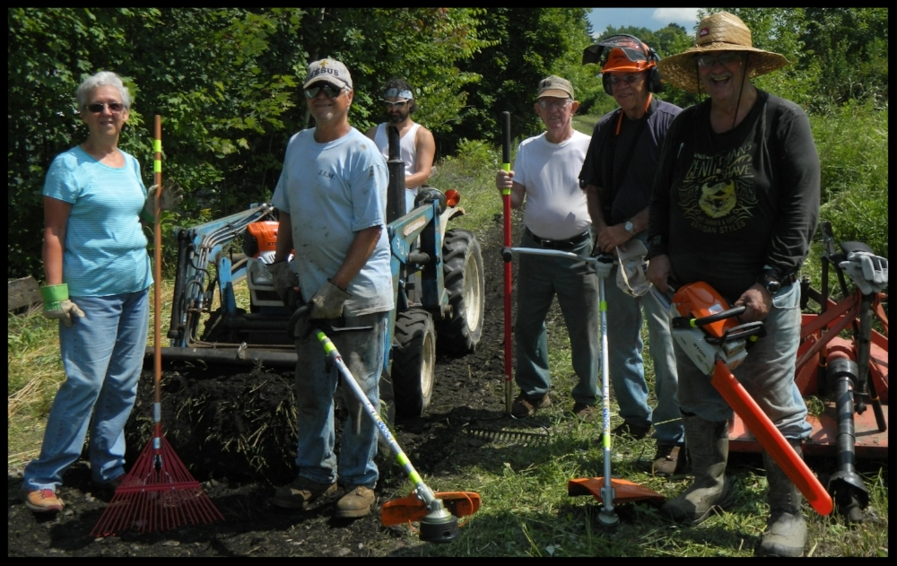 Members of the MJ2KB Trail Club met Saturday 7/28/18 to clean up the Rail Trail between Center St & Kushequa Ave in Mt Jewett. The equipment used was purchased with grant money the club rec'd from the Pittsburgh Foundation. See more pictures  HERE .