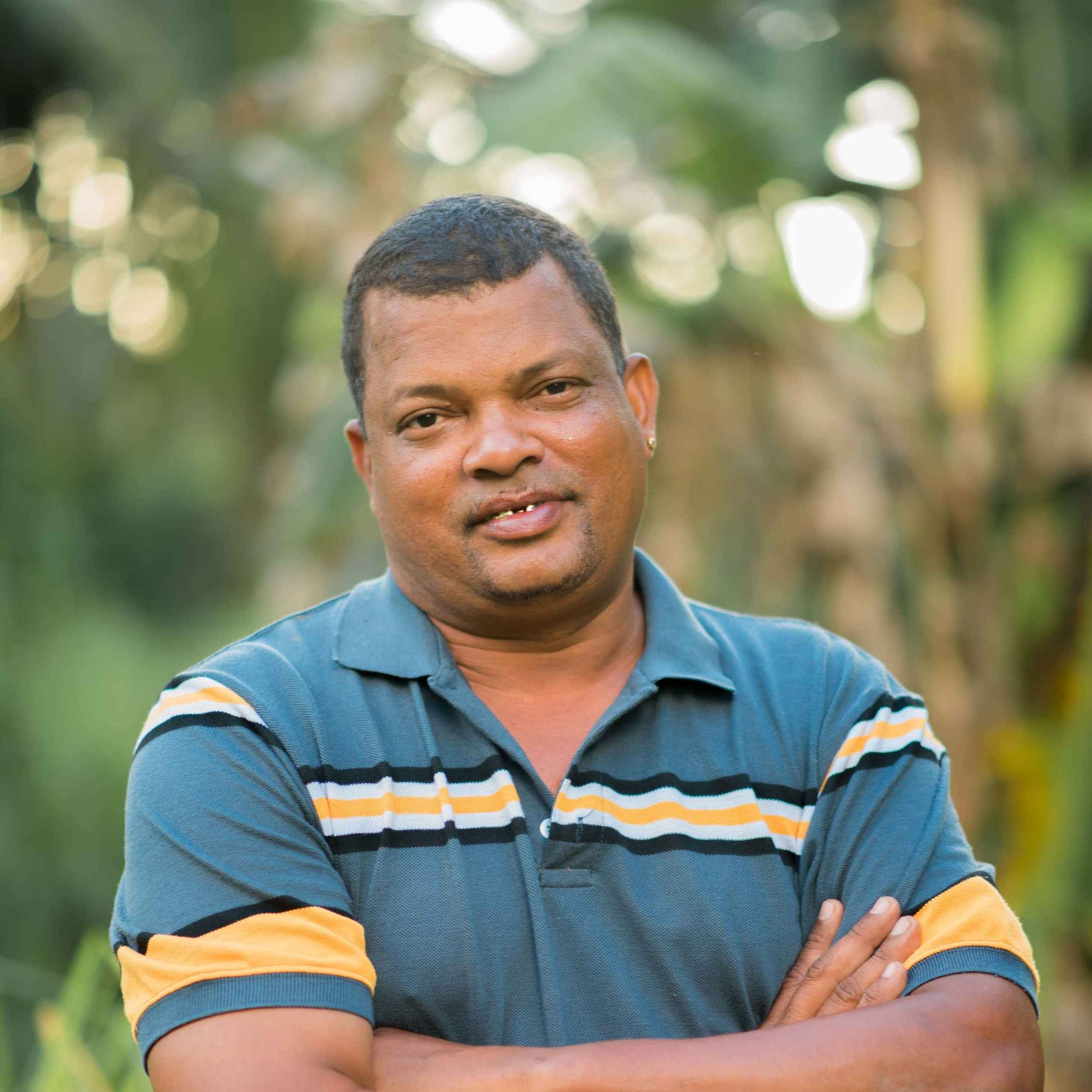 Gary Grant - Gary is the Estate Manager at Stoll in Guyana. Educated at the Guyana School of Agriculture, he previously worked for the Guyana Rice Development Board and the Demerara Company. His hobbies including bee keeping, Manchester City Football Club and repairing the excavator.