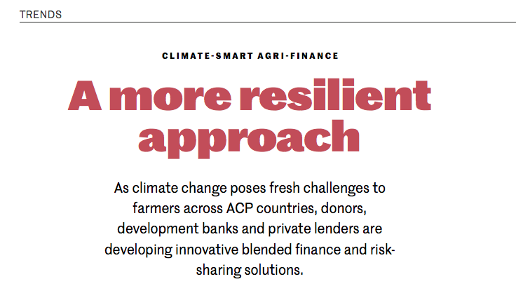 Climate Smart Agri Finance