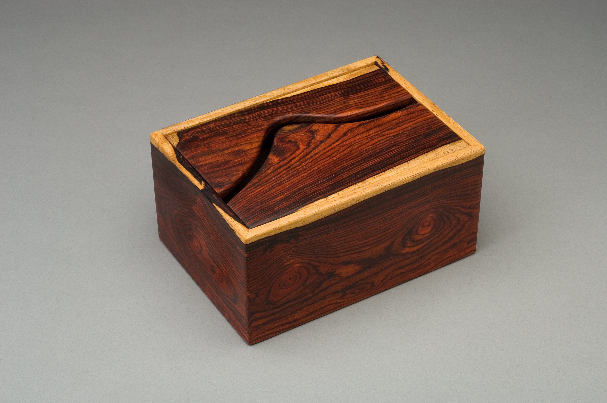 COCOBOLO HARDWOOD WITH A SLIDING TRAY