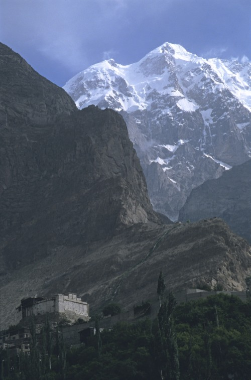 Karimabad and the fort. After we finished the K2 Trek, we drove to the Hunza Valley and to  Kashgar in China via the Kunjerab Pass  (see the link for photos from that leg of our trip). We wanted to see the famous Kashgar market. This was another great adventure that included being involved in contraband between China and Pakistan, meeting the Chief of Police of the North West Frontier Province and visiting locals in the village of Passu.