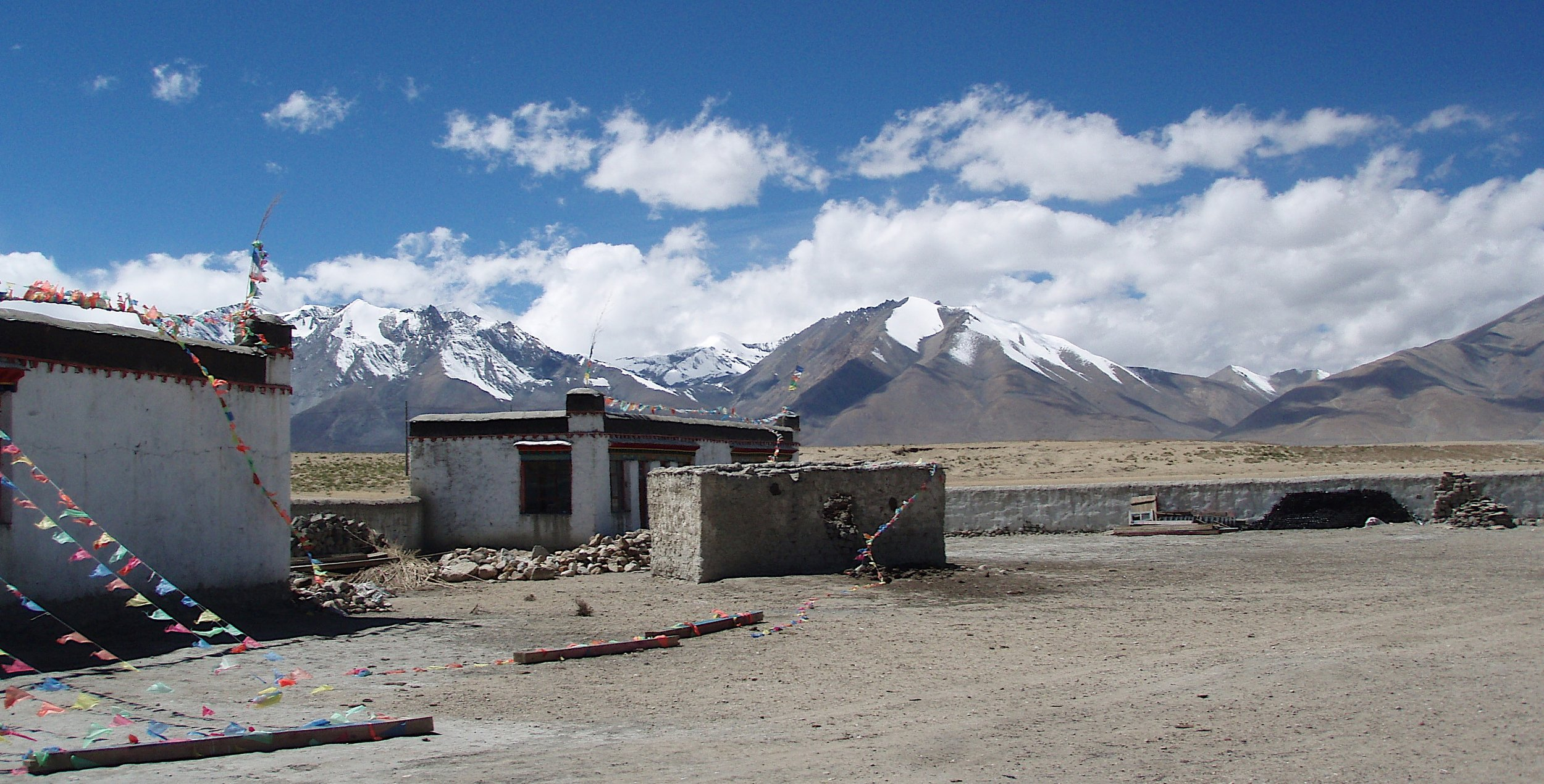The view of the Langtang Range from Tibet near Lake Paiku Tso