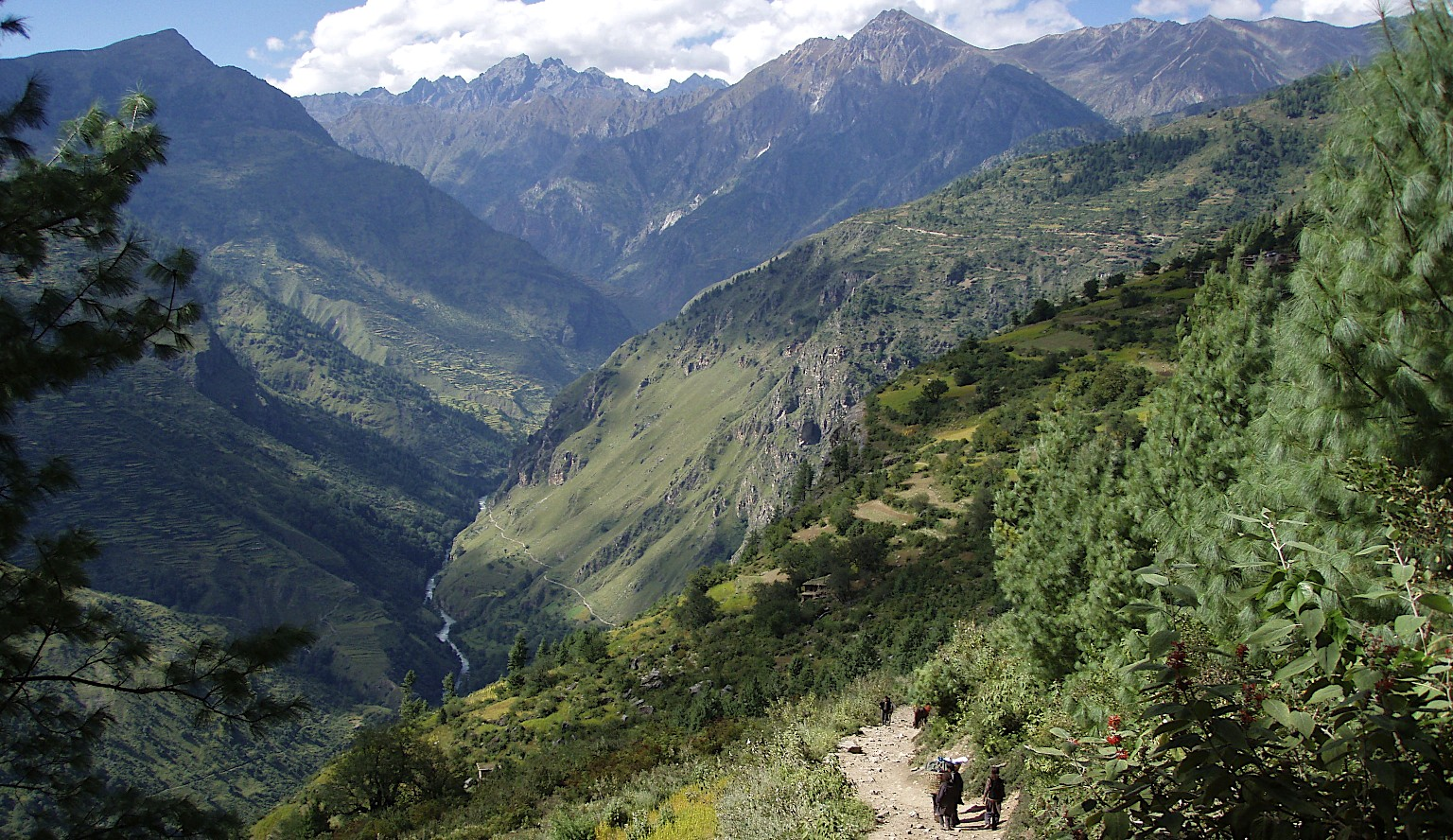The start of the trail to China from Simikot