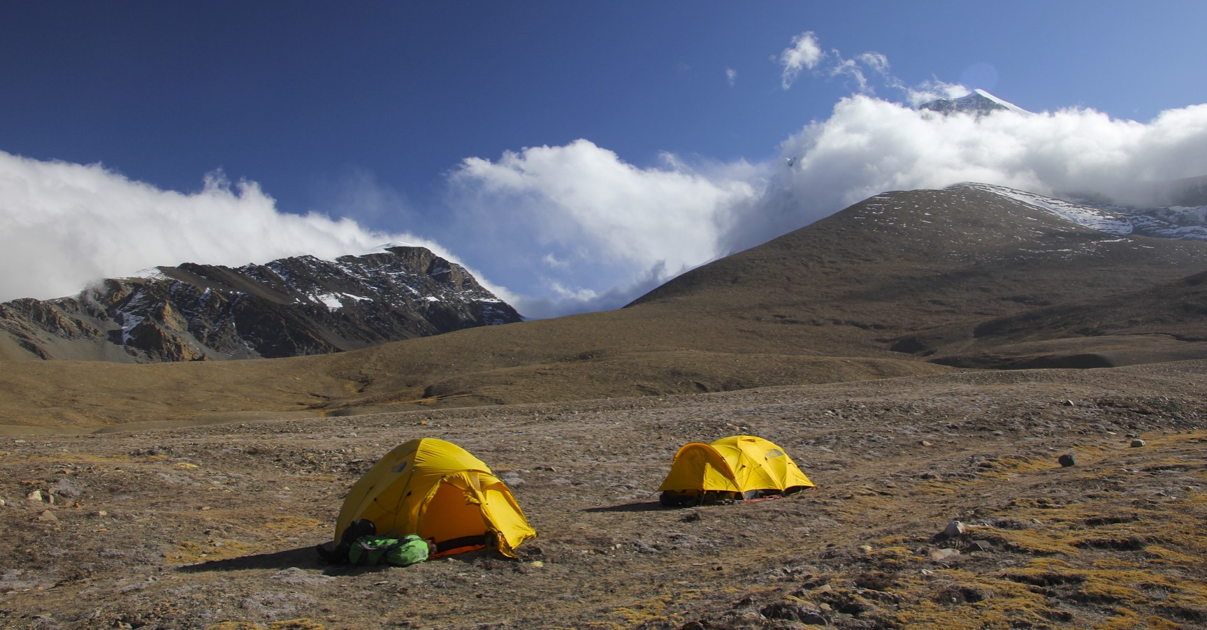 Our camp for the Dhampus Pass in Hidden Valley at 5,000m - a barren, windy and a very cold place!