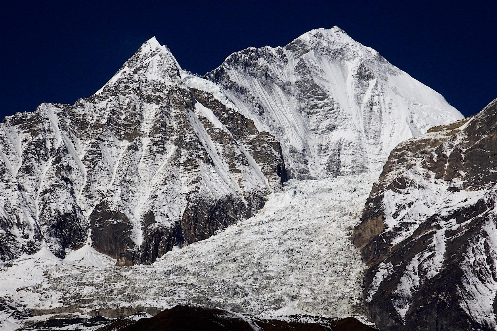 East wall of Dhaulagiri - climbed by Voytek Kurtyka and Tomas Humar