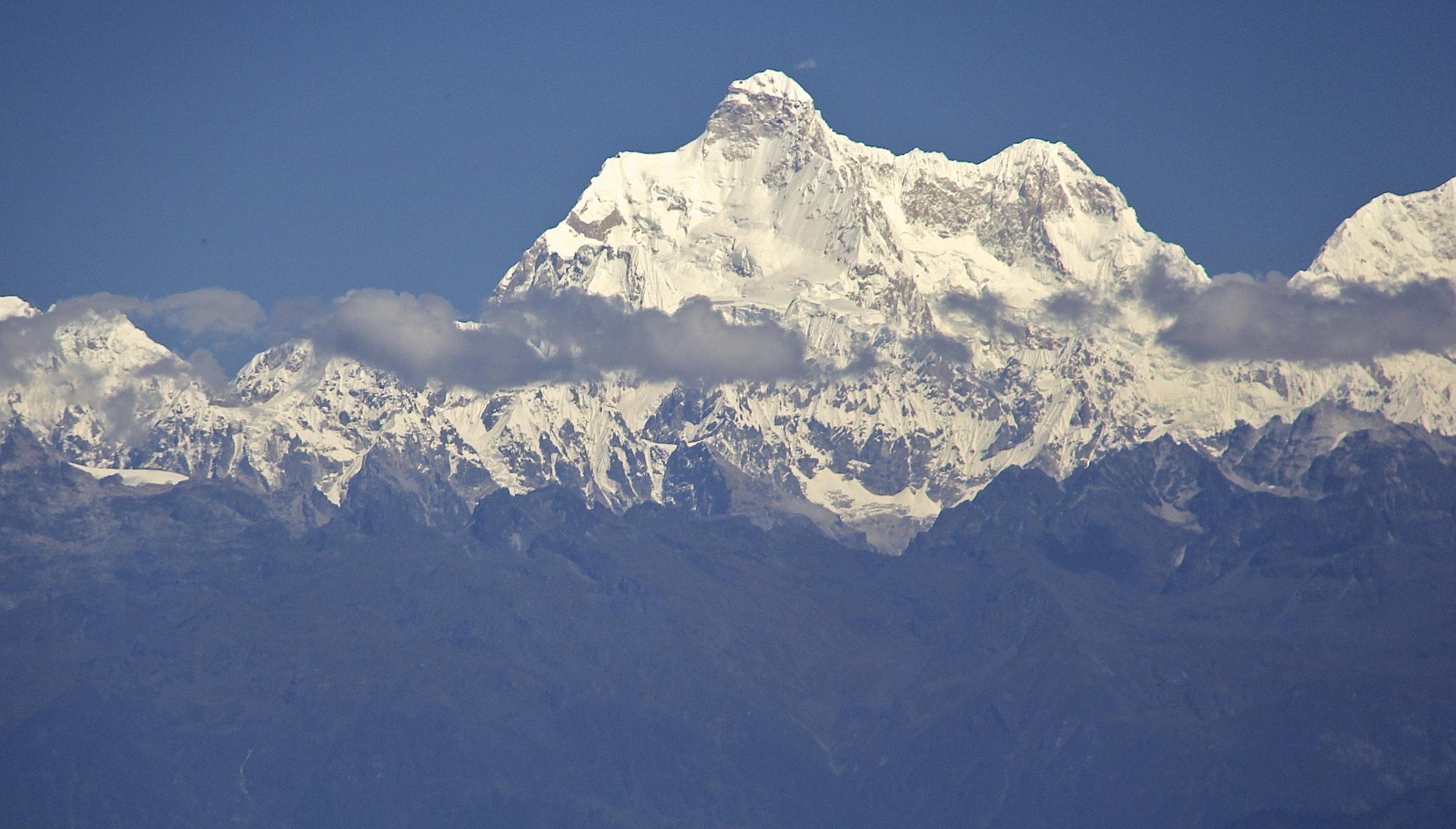 Jannu Peak from Ilam - the spectacular Kangchendzonga massif