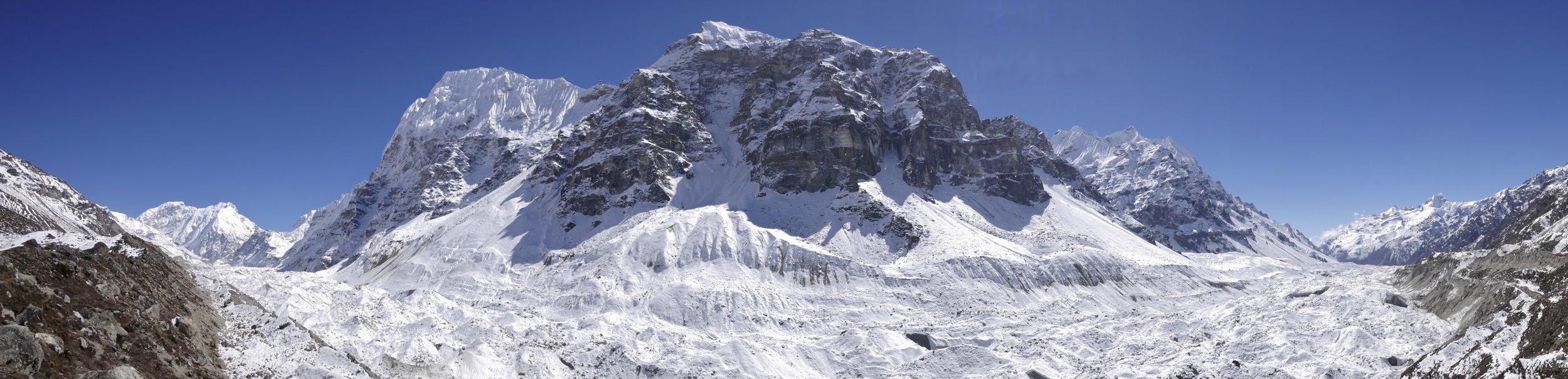Kangchendzonga Glacier Wedge Peak and Gimmigela Peak.