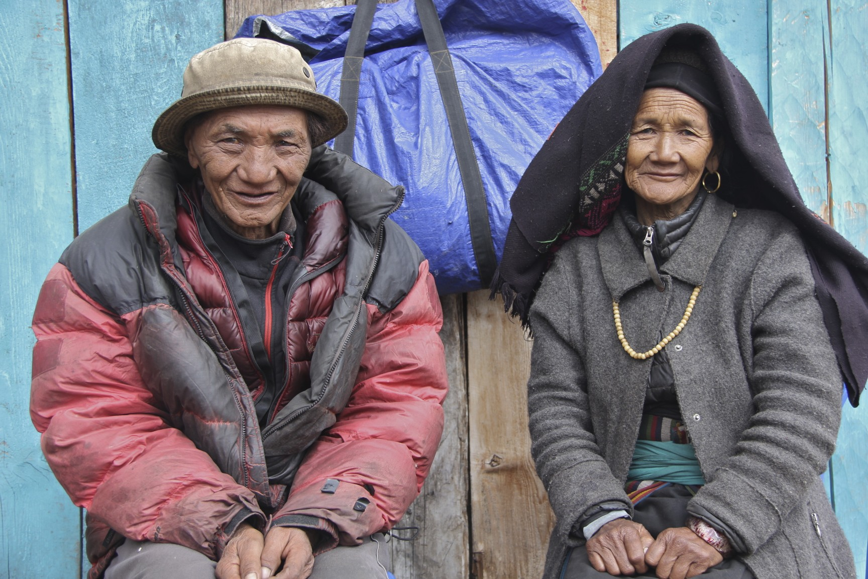 The husband and his wife in this photo were looking after a small herd of goats. They lived alone at 4,500m and a four day walk from nearest village. They were both in their 80s. Amazingly, their daughter lives in Boston, USA. They called her from my satellite phone while we were there.