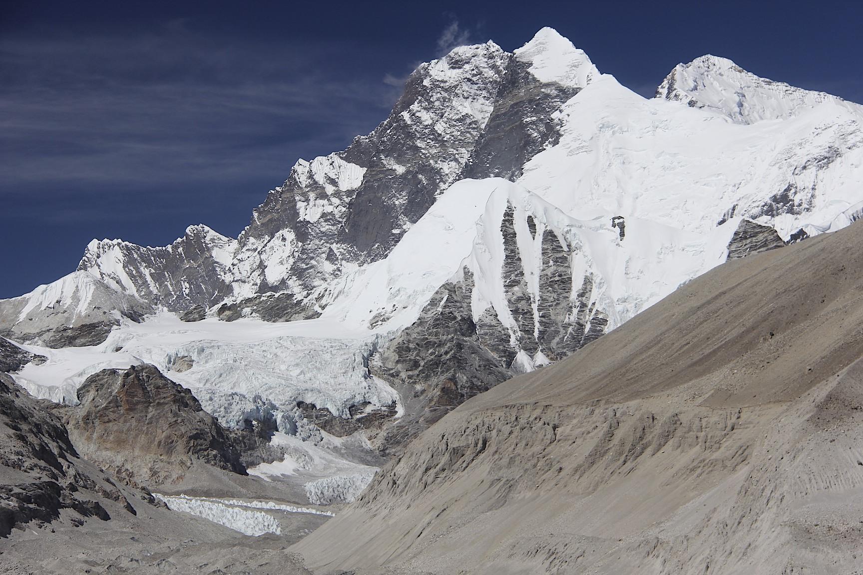 From left to right: Lhotse, Lhotse Shar, Everest