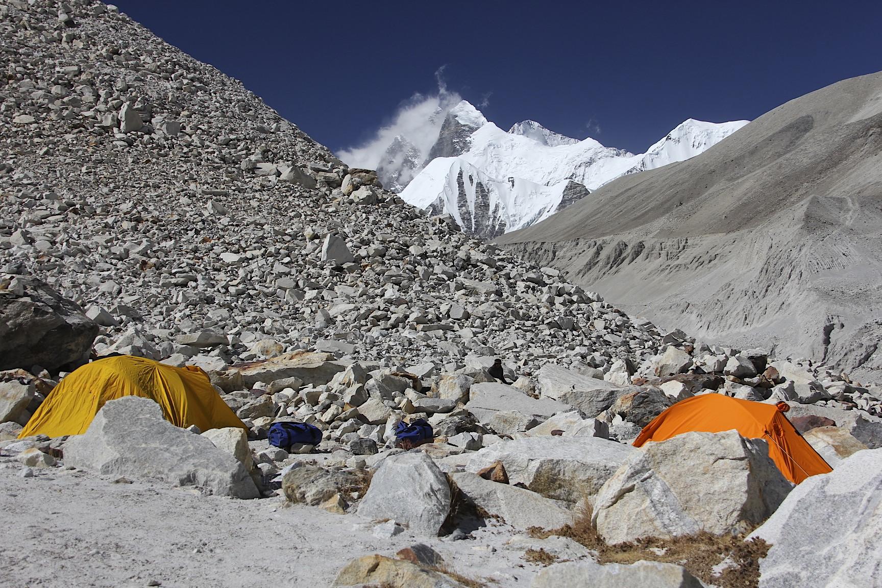 Sandy camp en route to Sherpani Col