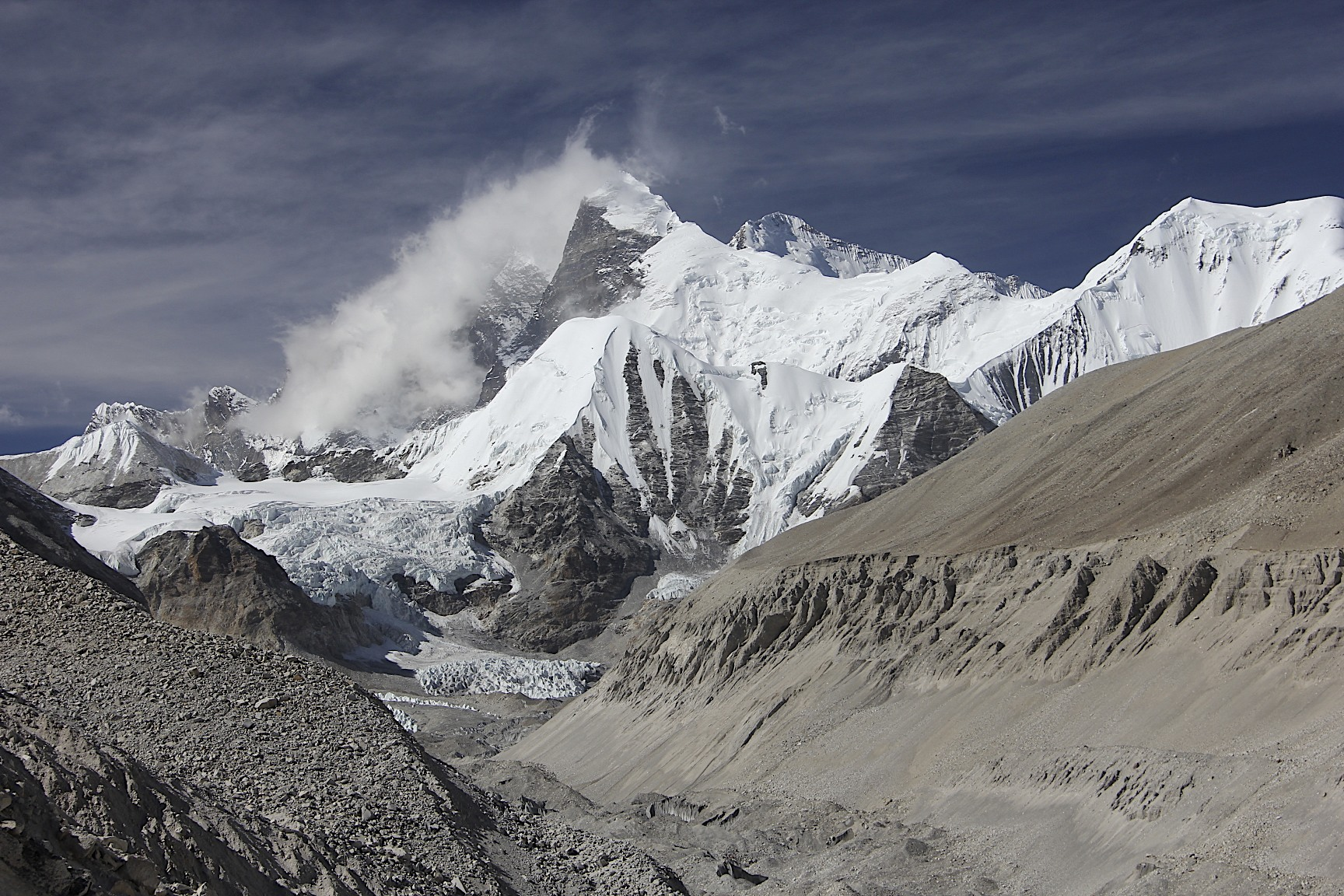 Lhotse/Everest massif from the Sandy camp