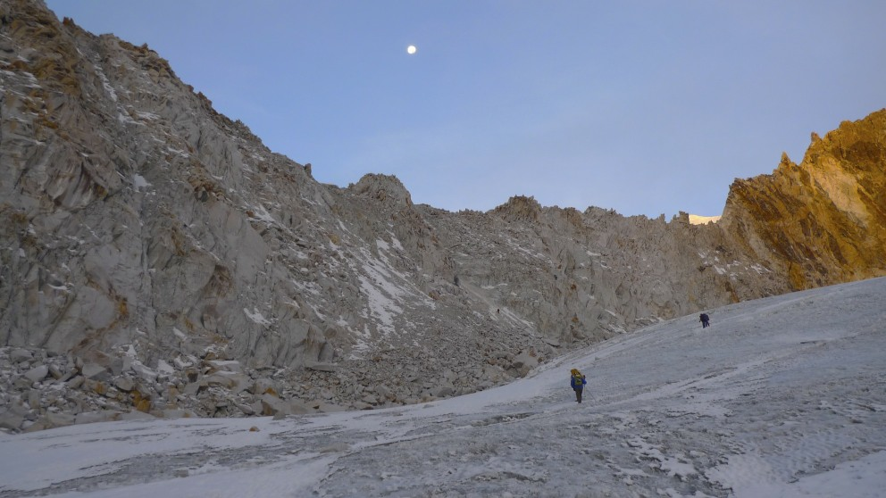 Sherpani Col - a small rock climb at 6,100m