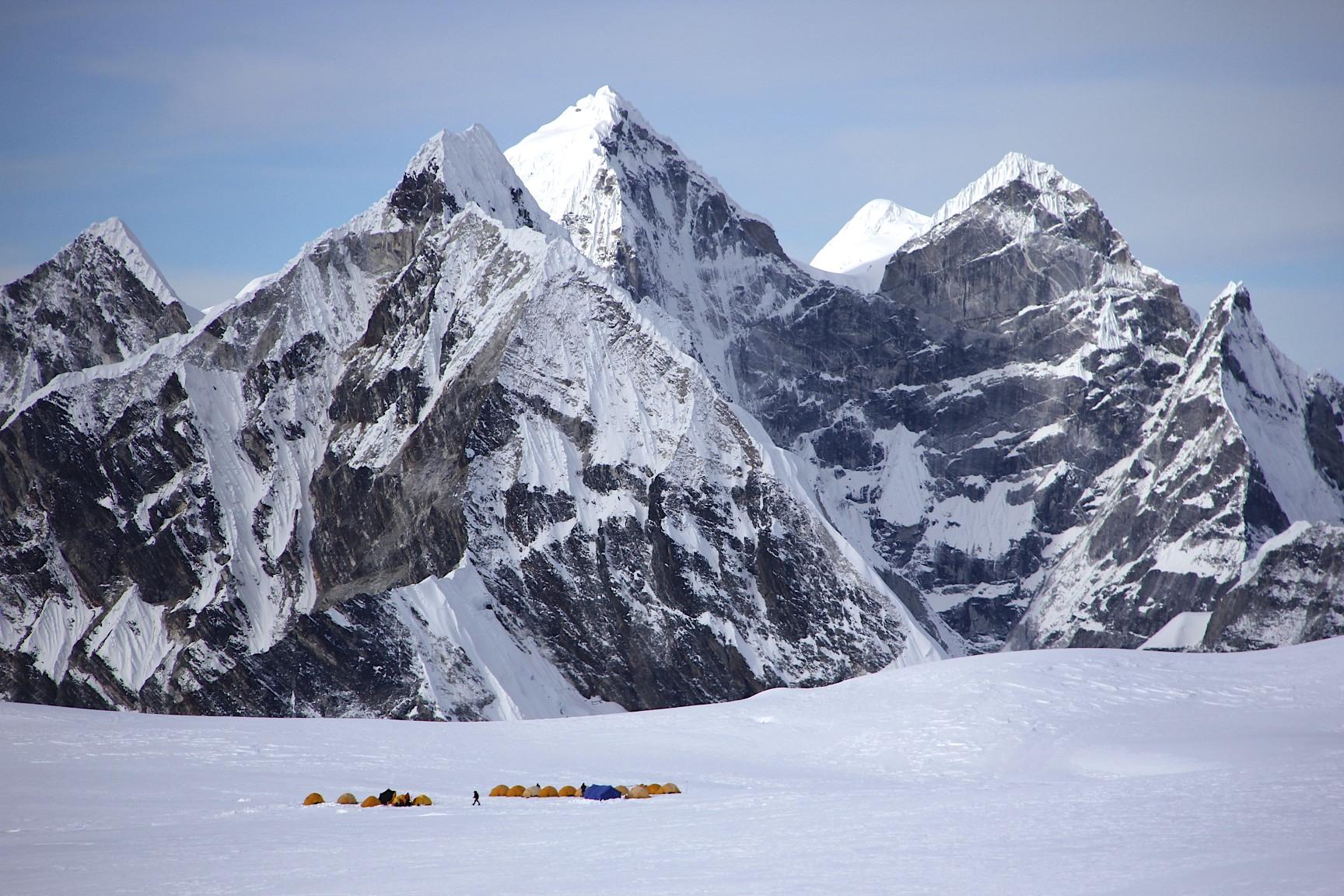 Camp 2 for the Baruntse Climb