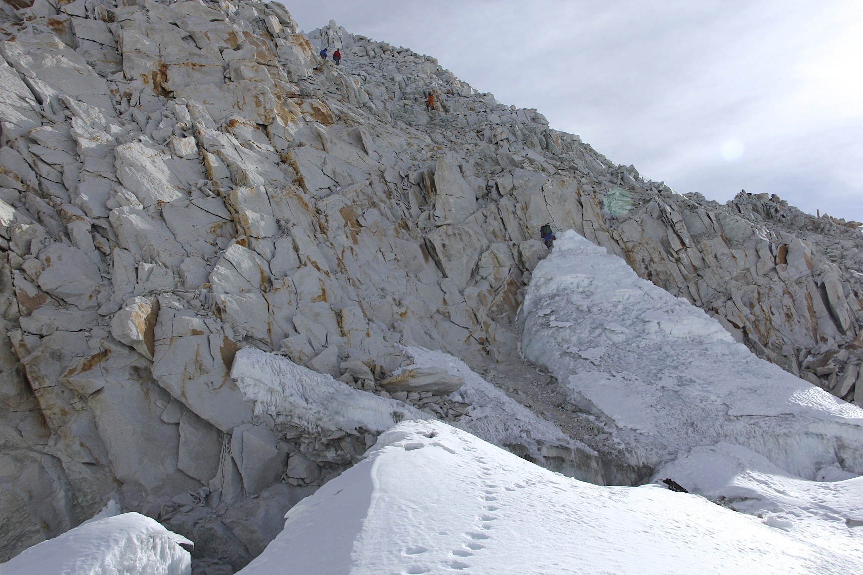 Descent from Sherpani Col