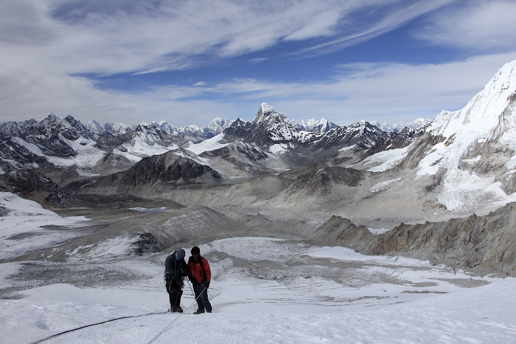 Hinku Valley - Ama Dablam is in the centre.