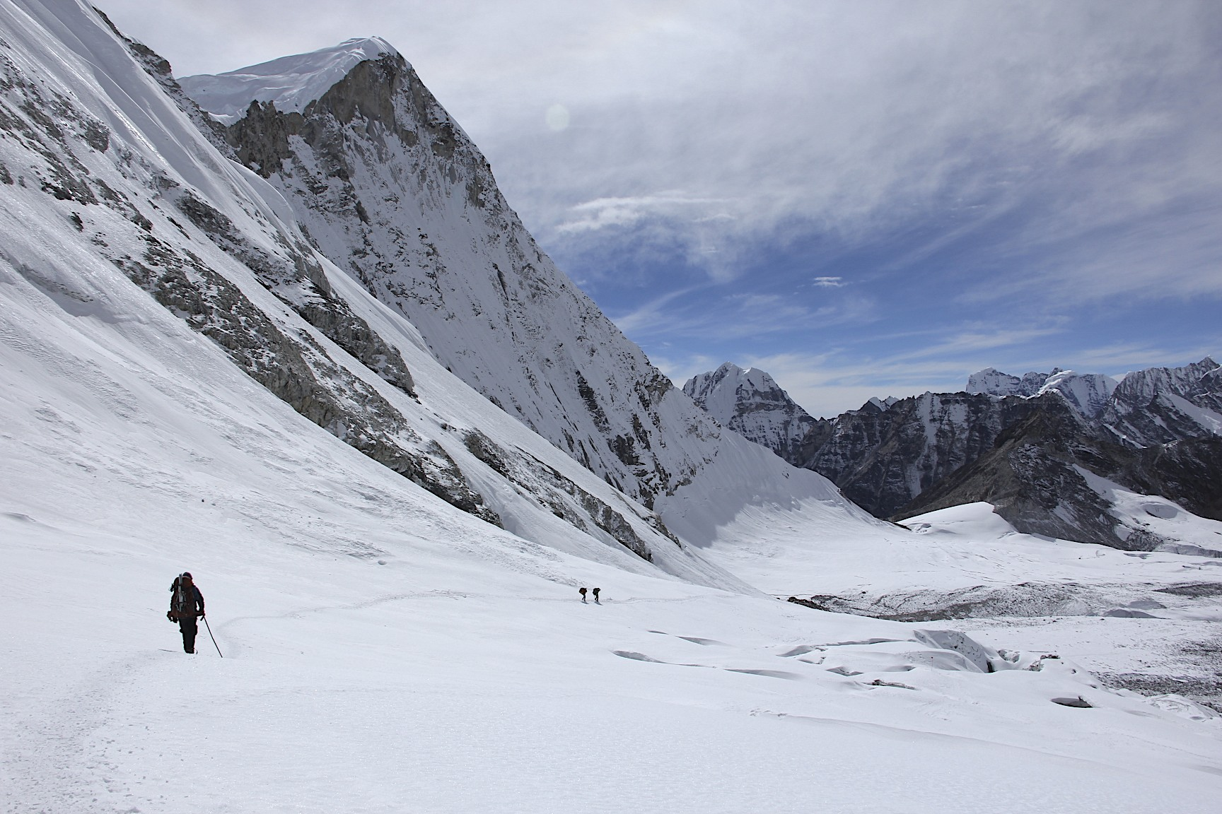 Hiking to the Hinku Valley and the Baruntse BC.