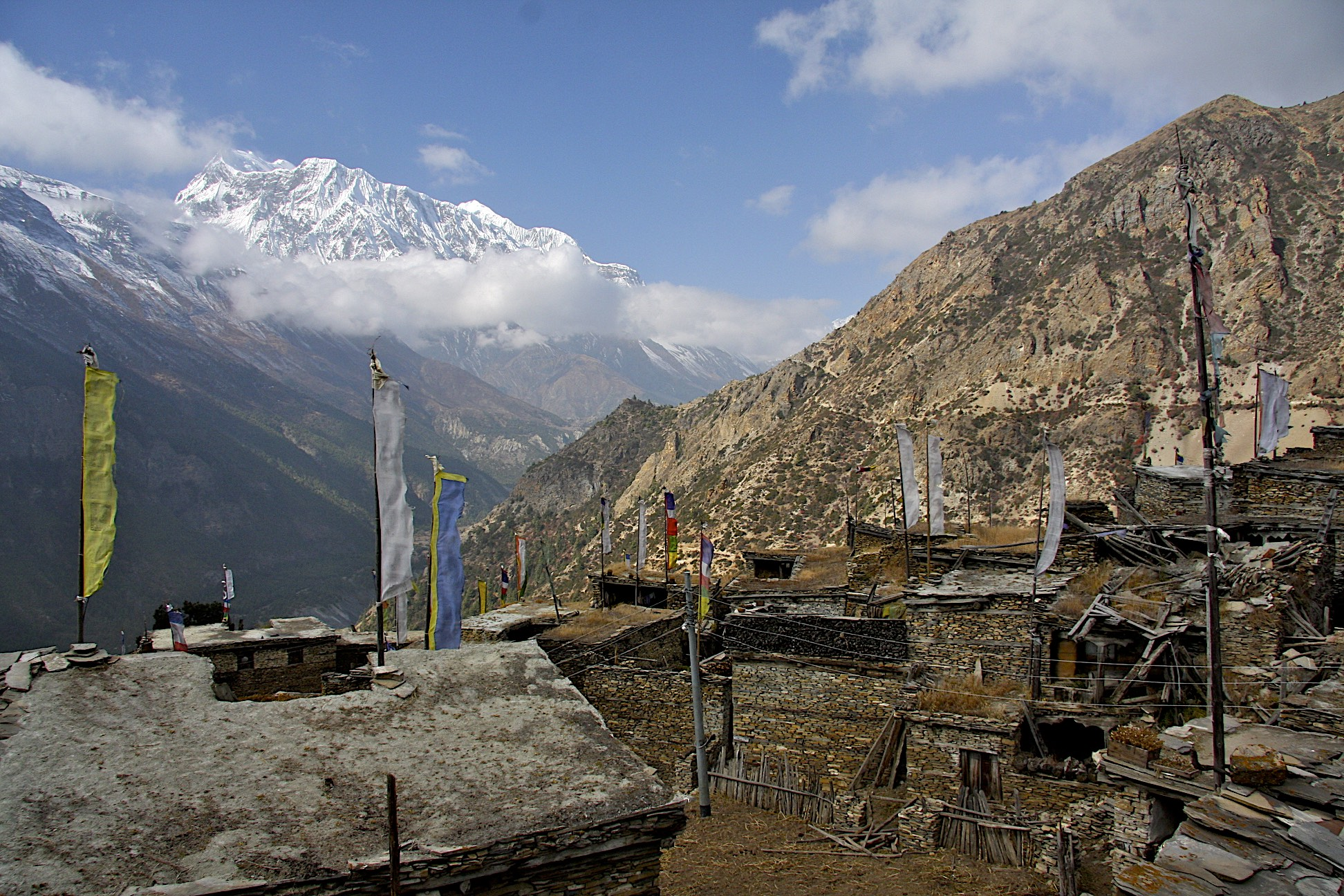 Annapurna II in the distance
