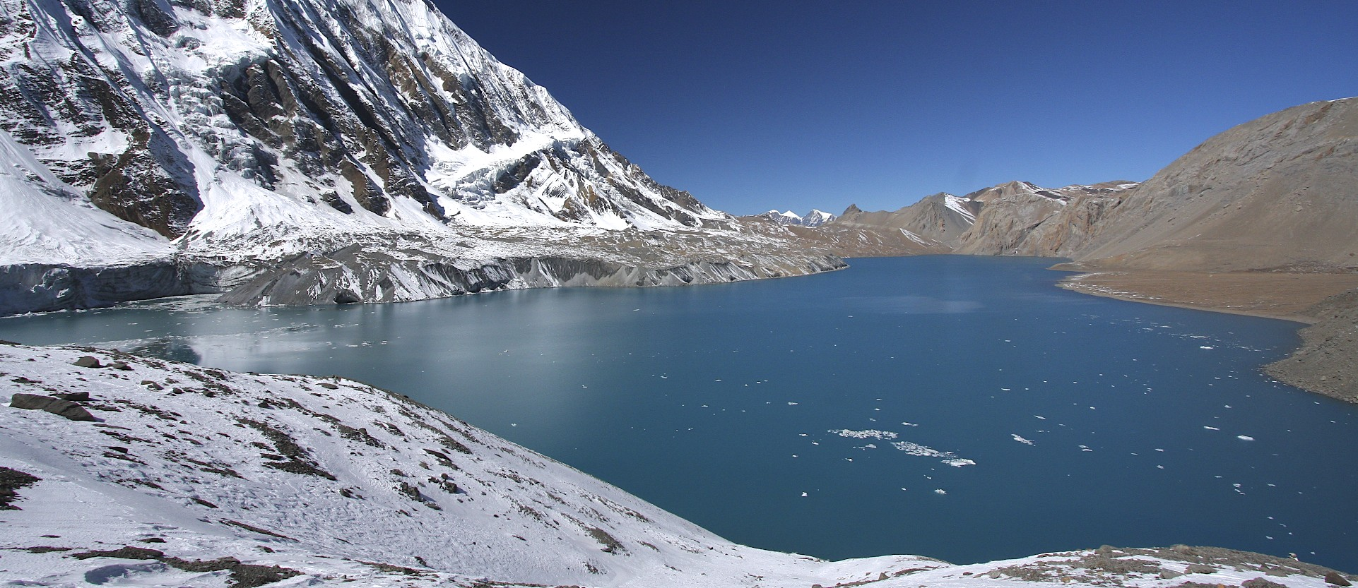 Tilicho Lake - the highest lake in the world at 4,919m.
