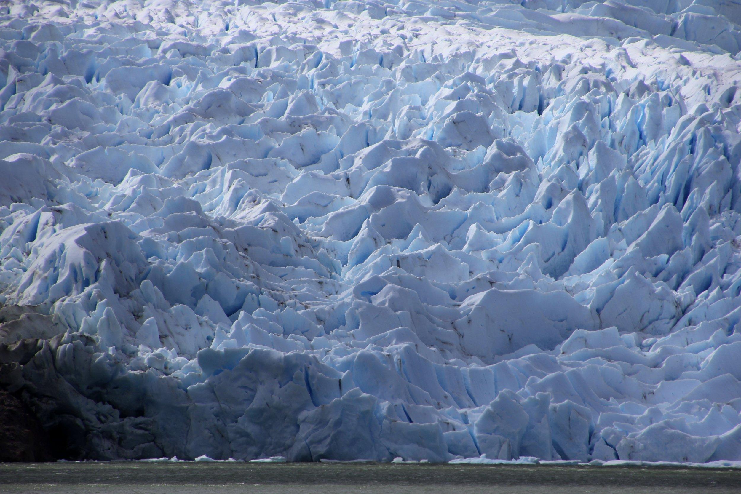 The glaciers of the Darwin Range on the Tierra del Fuego