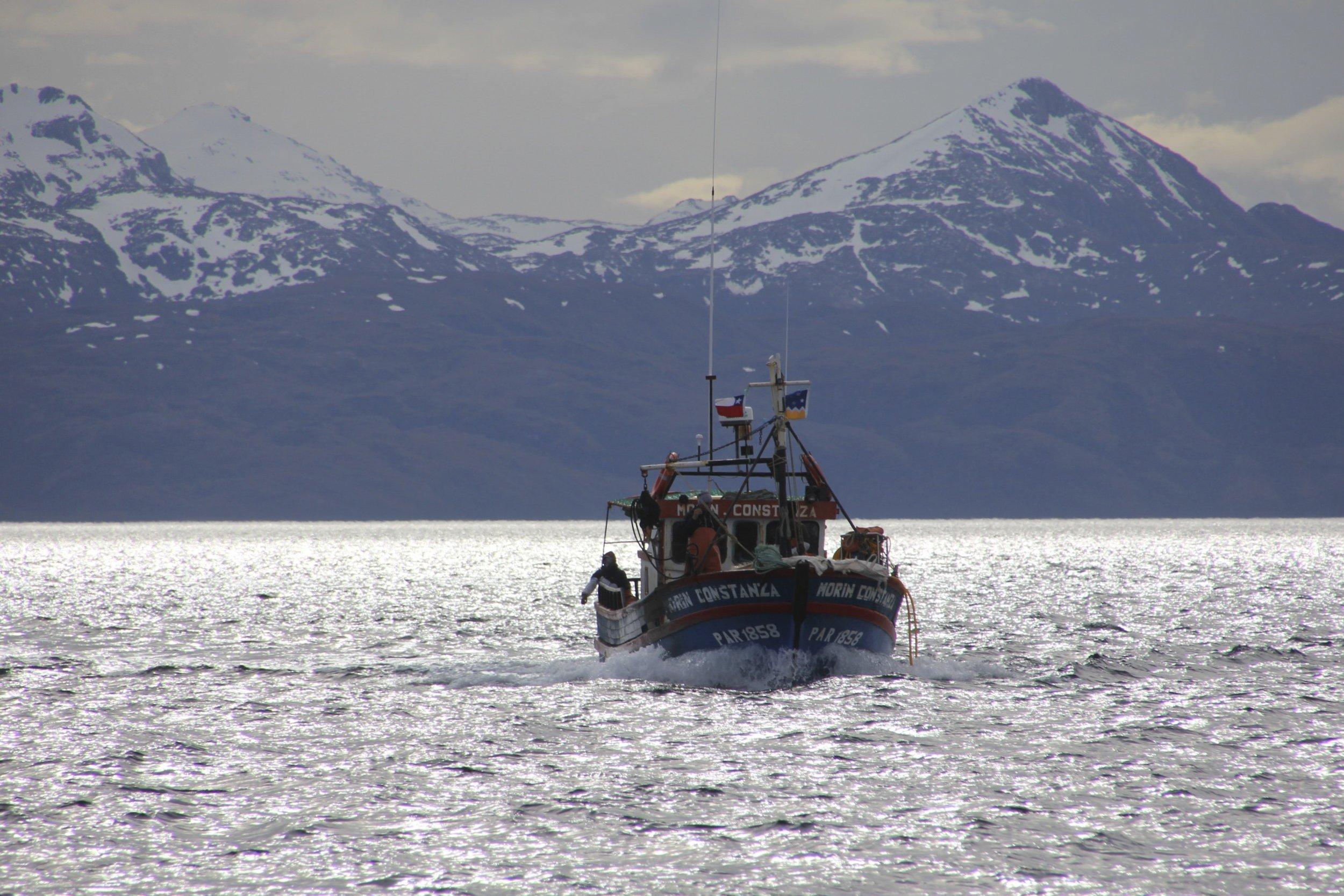 Crab fishermen in southern Patagonia