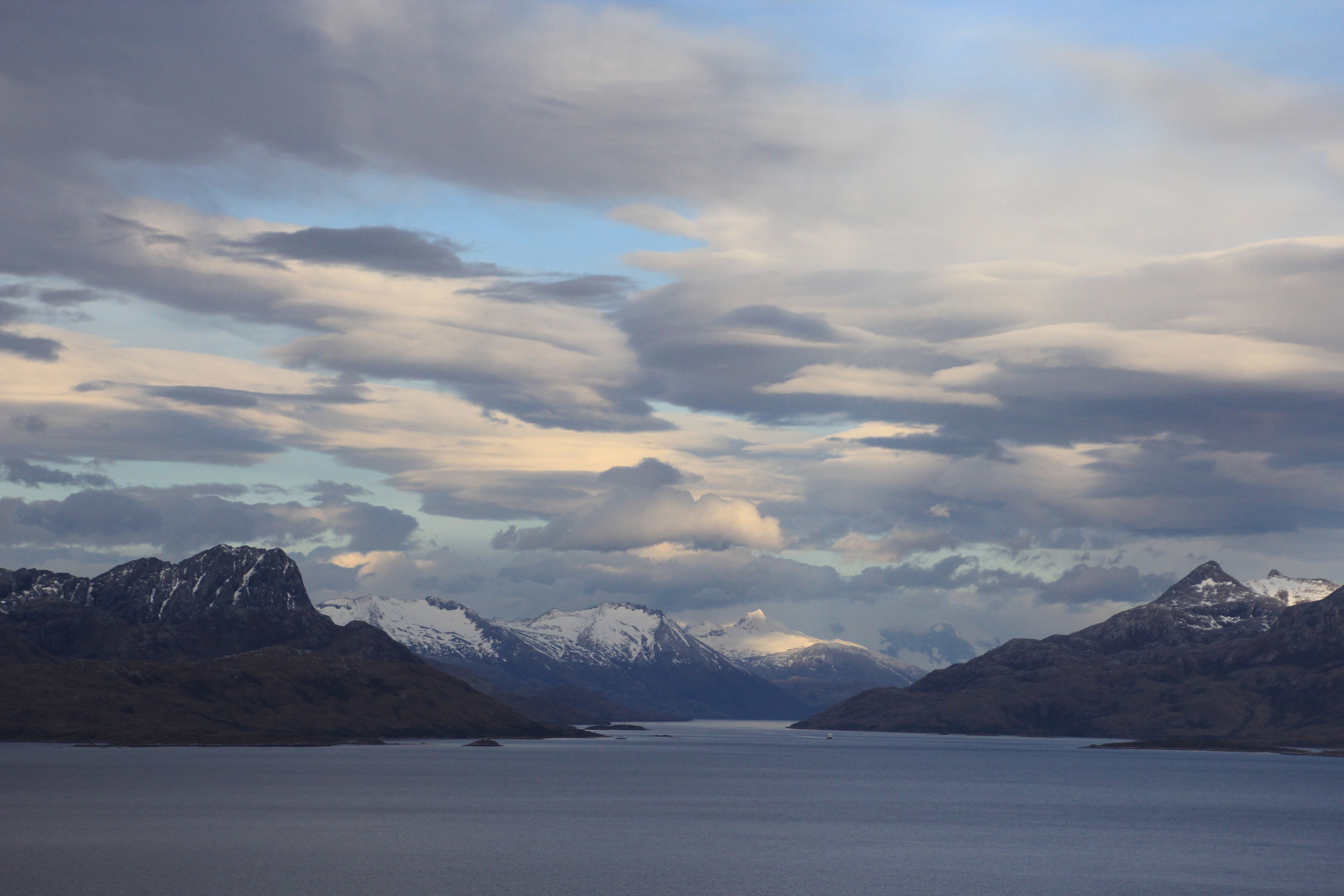 Beagle Channel and the Darwin Range in southern Patagonia