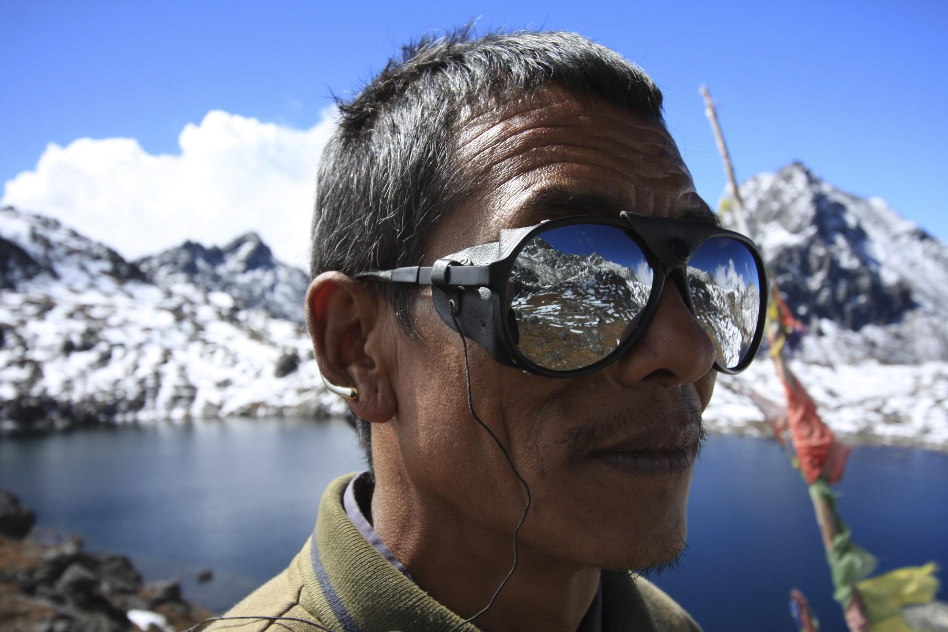 Kamsing at the Gosainkunda Lakes at Laurebina Pass, 4,664m