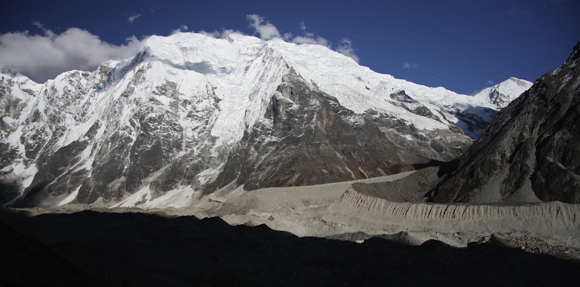 Langtang Glacier and Pemthang Karpo Ri Mountain.